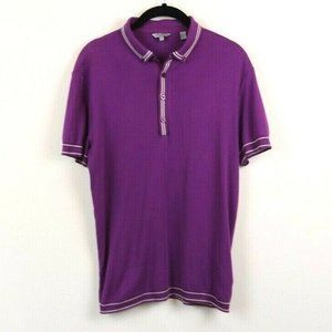 Ted Baker Womens Top Polo Collared Buttons Stripes
